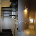 玄関収納、階段